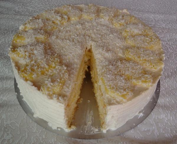 Ananas-Kokos-Sahne