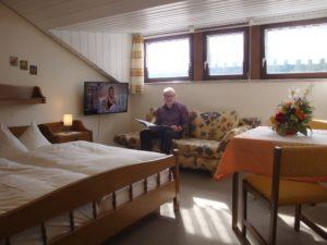 Doppelzimmer mit TV und Safe