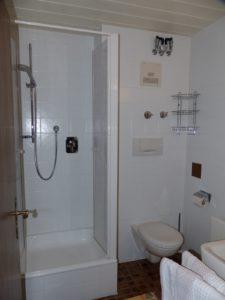Dusche, WC, Waschbecken - eine angenehme und funkionelle Nasszelle.